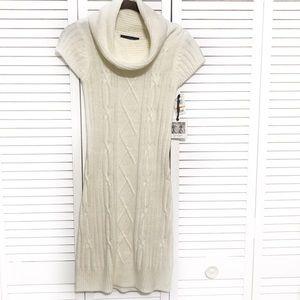 Jessica Simpson beige Cowl Neck Sweater Dress